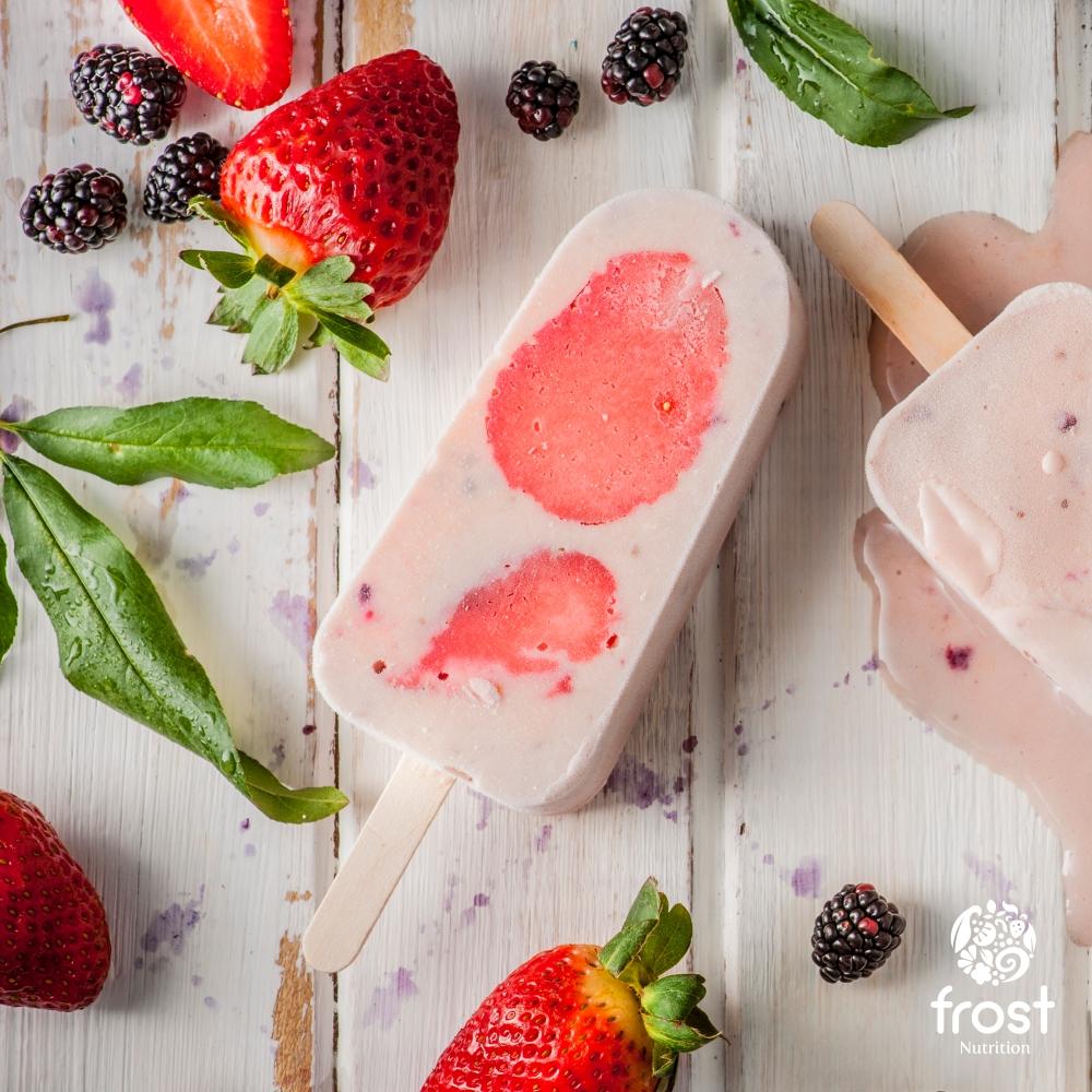 Dinamica yogurt griego fresa y mora